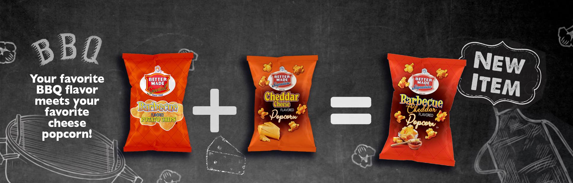 BBQ Cheddar Chip & Popcorn